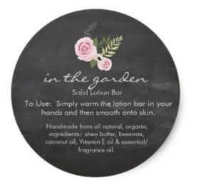 in the garden bottom label